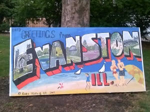 What began as a postcard is now a billboard: Greetings from Evanston, ILL
