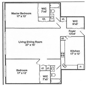 2300 Sherman 2C Floor Plan
